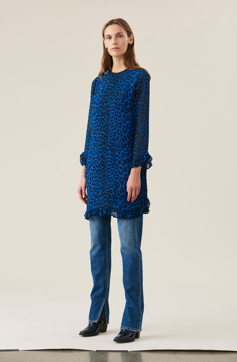 Carnivora Leopard Love for Leopard Mini Dress, Lapis Blue, hi-res