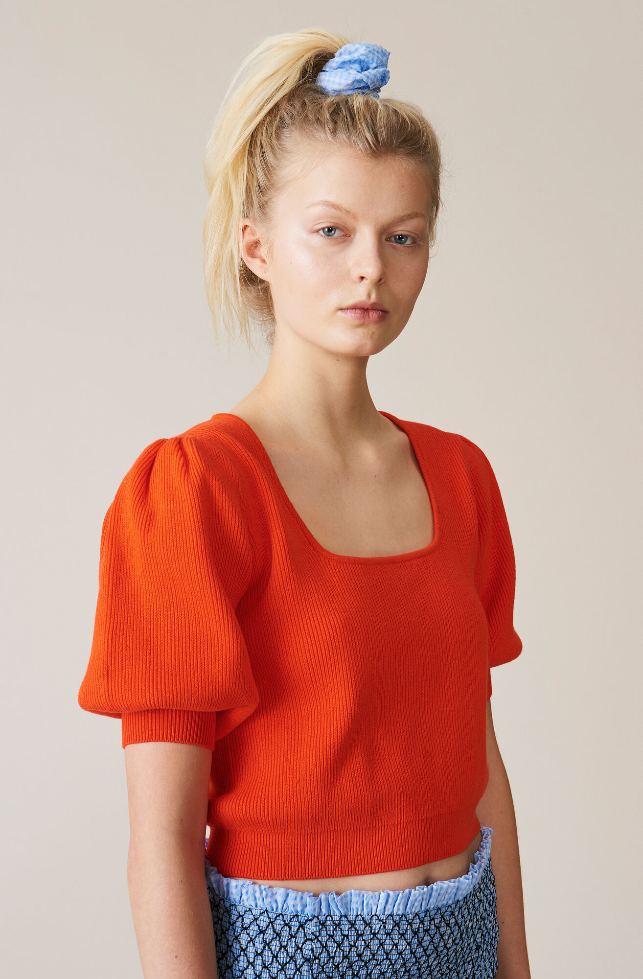 Poppy Knit Puff Pullover by Ganni