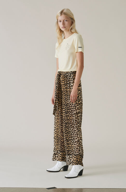 Fairfax Georgette Pants, Leopard, hi-res