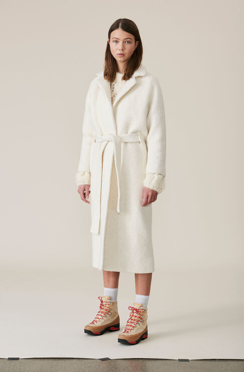 Fenn Long Wrap Coat, Egret, hi-res