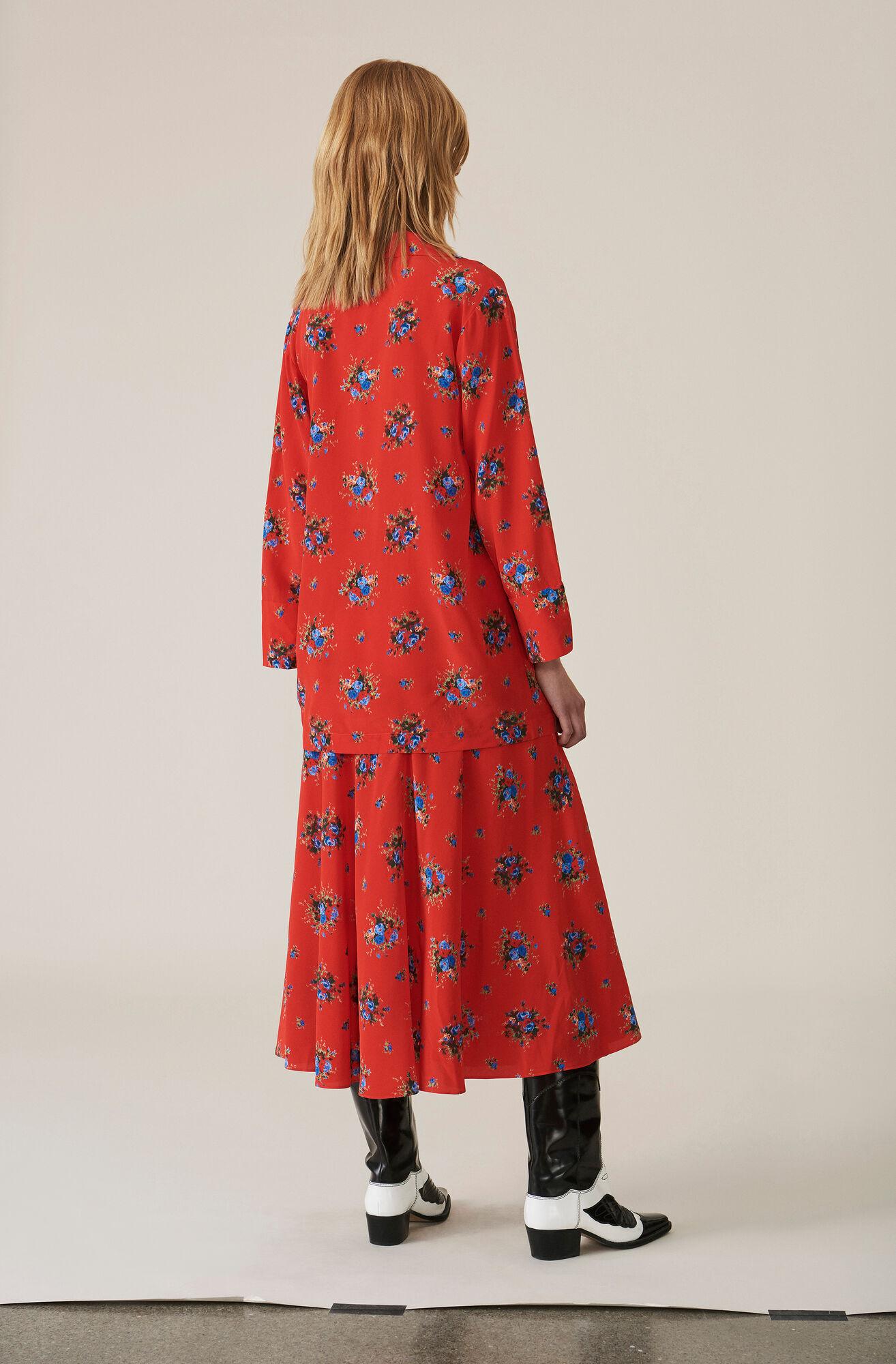 Kochhar Skirt, Fiery Red, hi-res