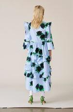 Pine Ruffle Dress, Serenity Blue, hi-res