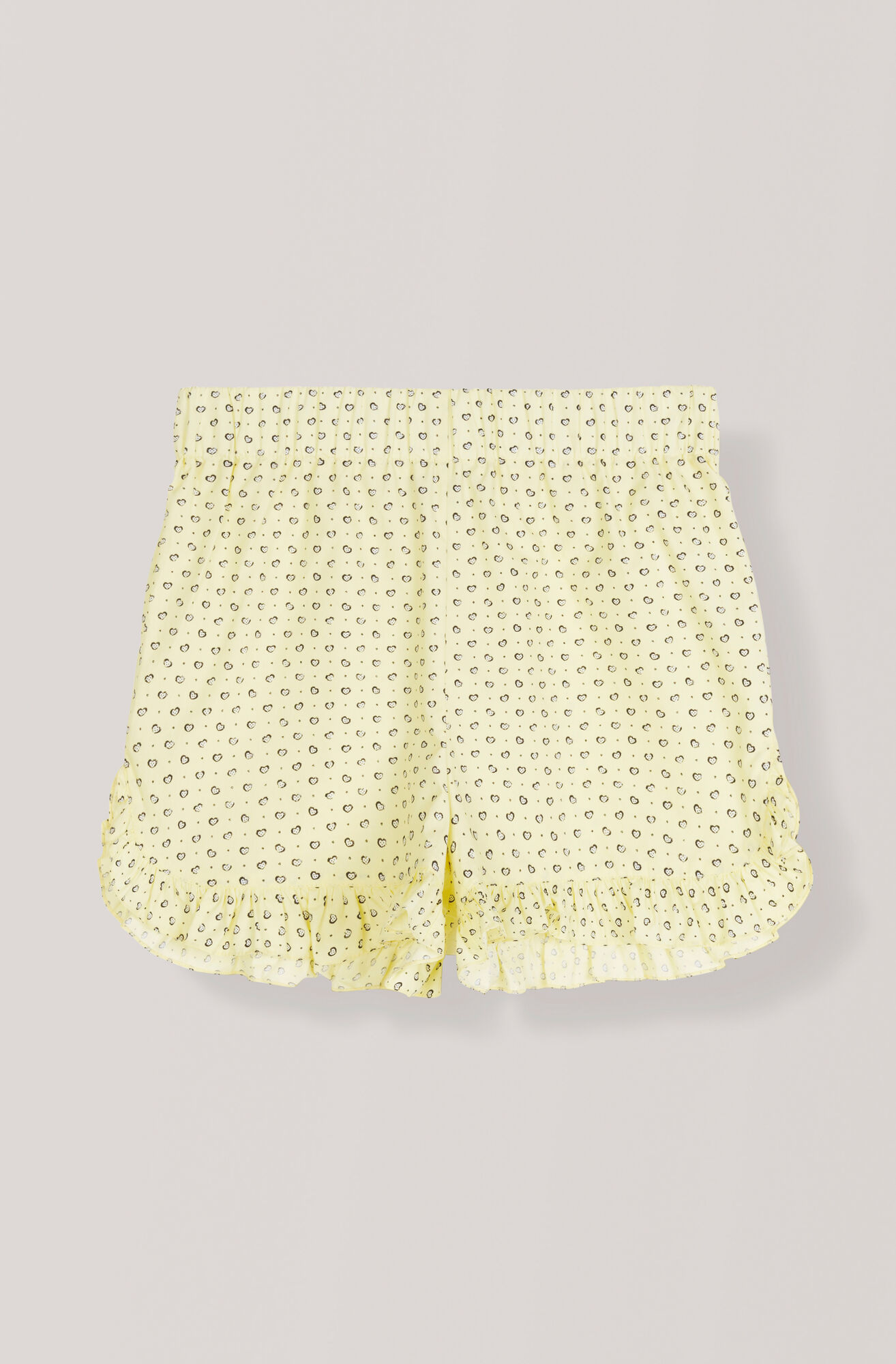 Printed Cotton Shorts, Anise Flower, hi-res