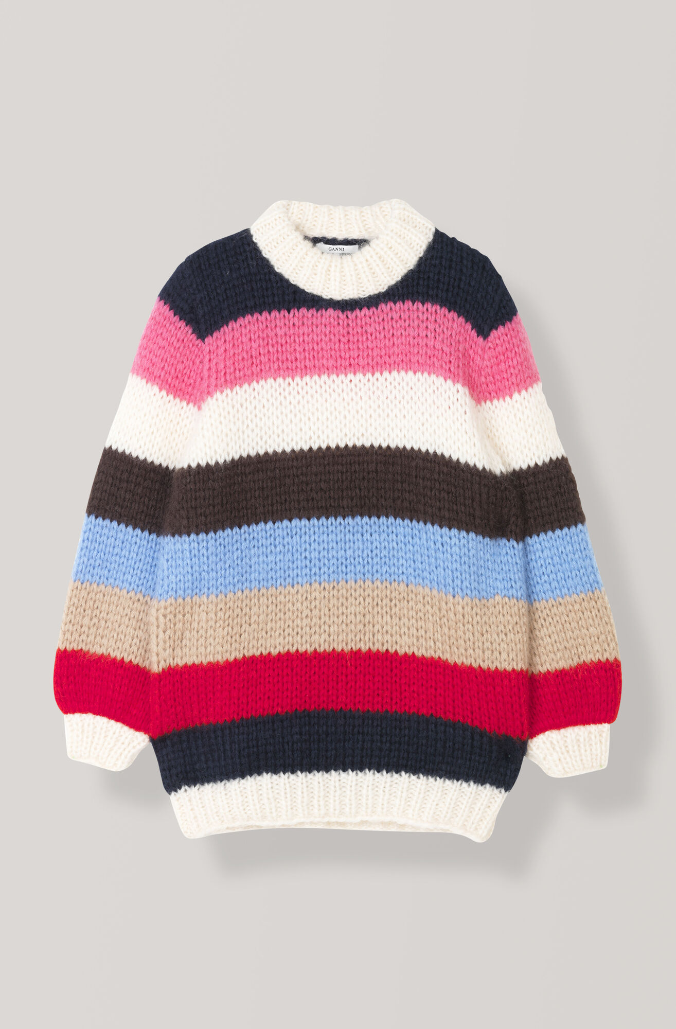 Hand Knit Wool Multicolor Pullover, Multicolour, hi-res