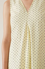 Printed Cotton Dress, Anise Flower, hi-res