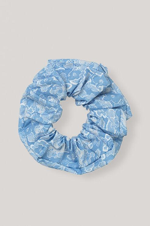 Sage Scrunchie, Serenity Blue, hi-res