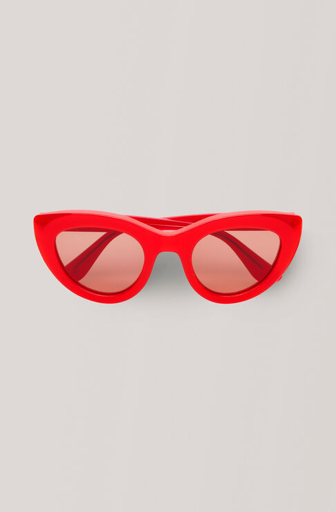 Triangle Sunglasses Sunglasses, Fiery Red, hi-res