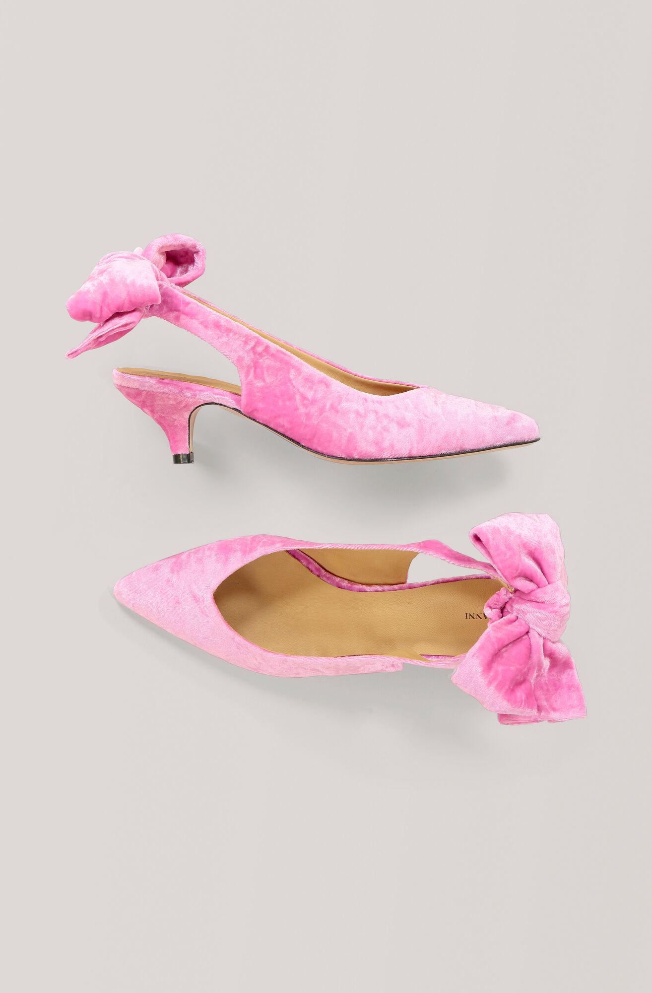 Bow Kitten Heel Pumps, Hot Pink, hi-res