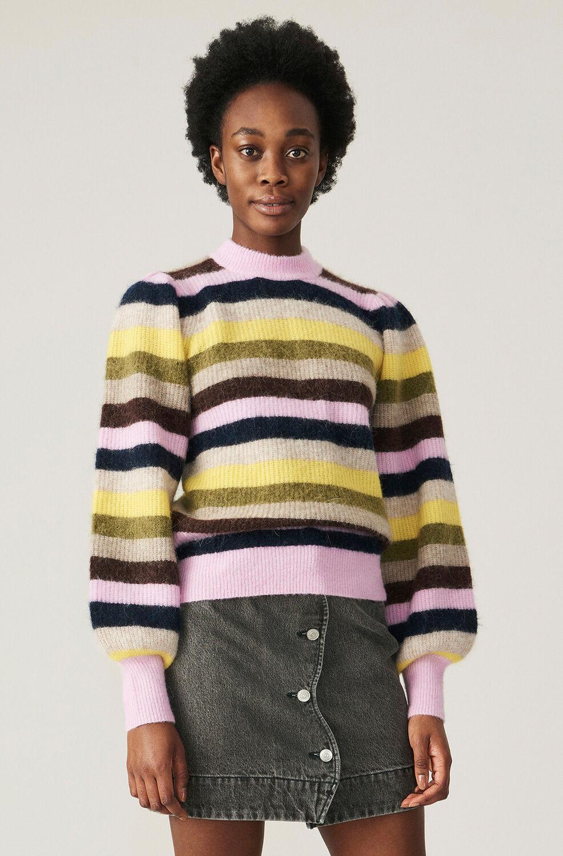 가니 소프트울 니트 Ganni Soft Wool Knit Pullover - Multi,Multicolour
