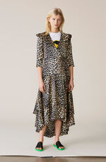 Calla Silk Wrap Dress, Leopard, hi-res
