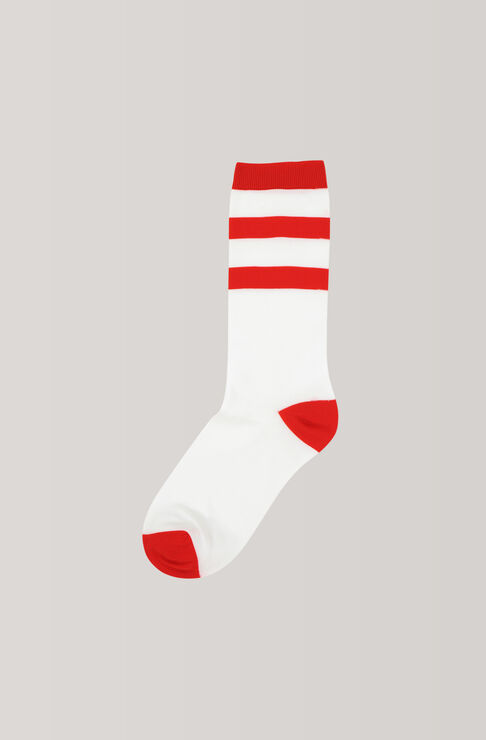 Classon Stripe Ankle Socks, Egret, hi-res