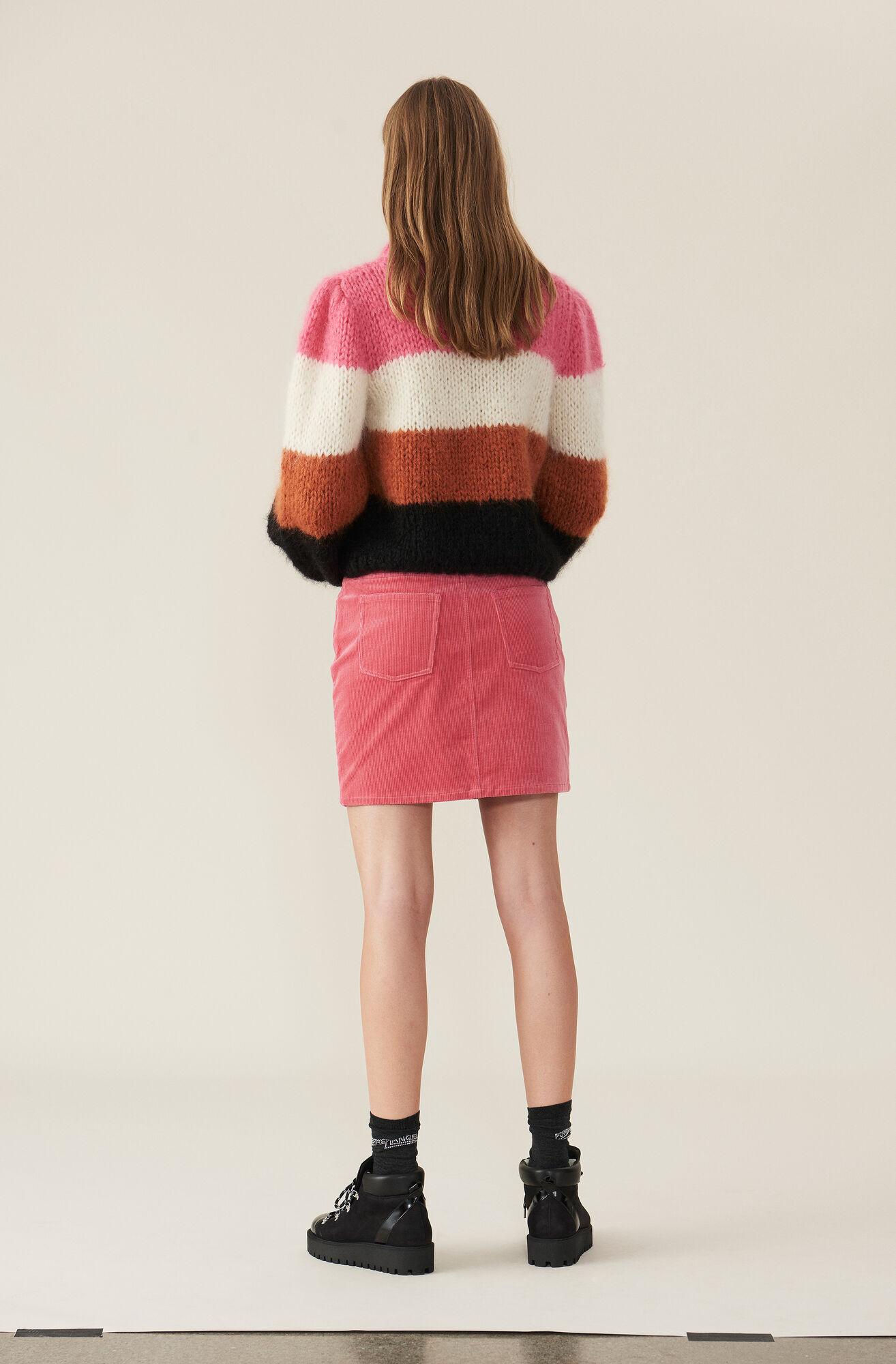 Stretch Corduroy Mini Skirt, Hot Pink, hi-res