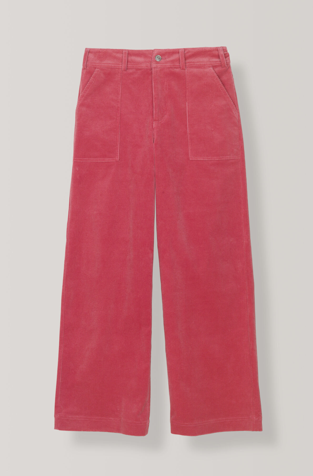 Stretch Corduroy Pants, Hot Pink, hi-res