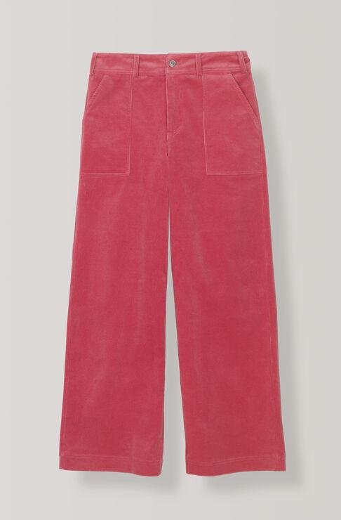 Breit Kordsamthose, Hot Pink, hi-res