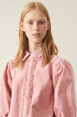 Stretch Corduroy Skjorte, Silver Pink, hi-res