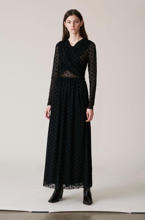 Valmy Maxi Dress, Black, hi-res