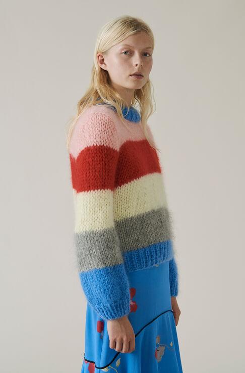 The Julliard Mohair Pullover, Block Colour, hi-res