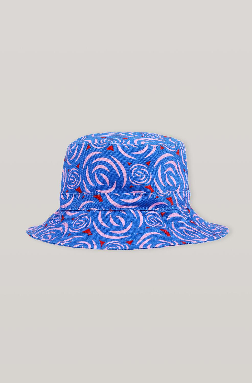 가니 플러워 버킷햇 Ganni Cotton Canvas Hats Bucket Hat,Flower Print