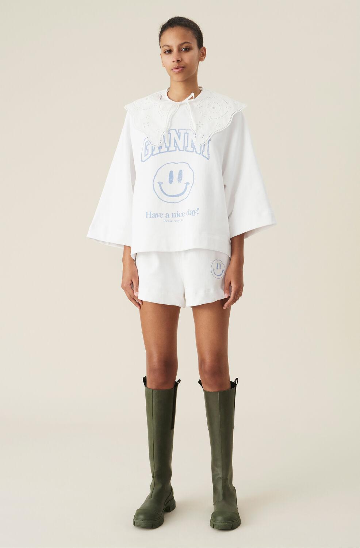 Ganni Smiley Isoli Shorts,Heather