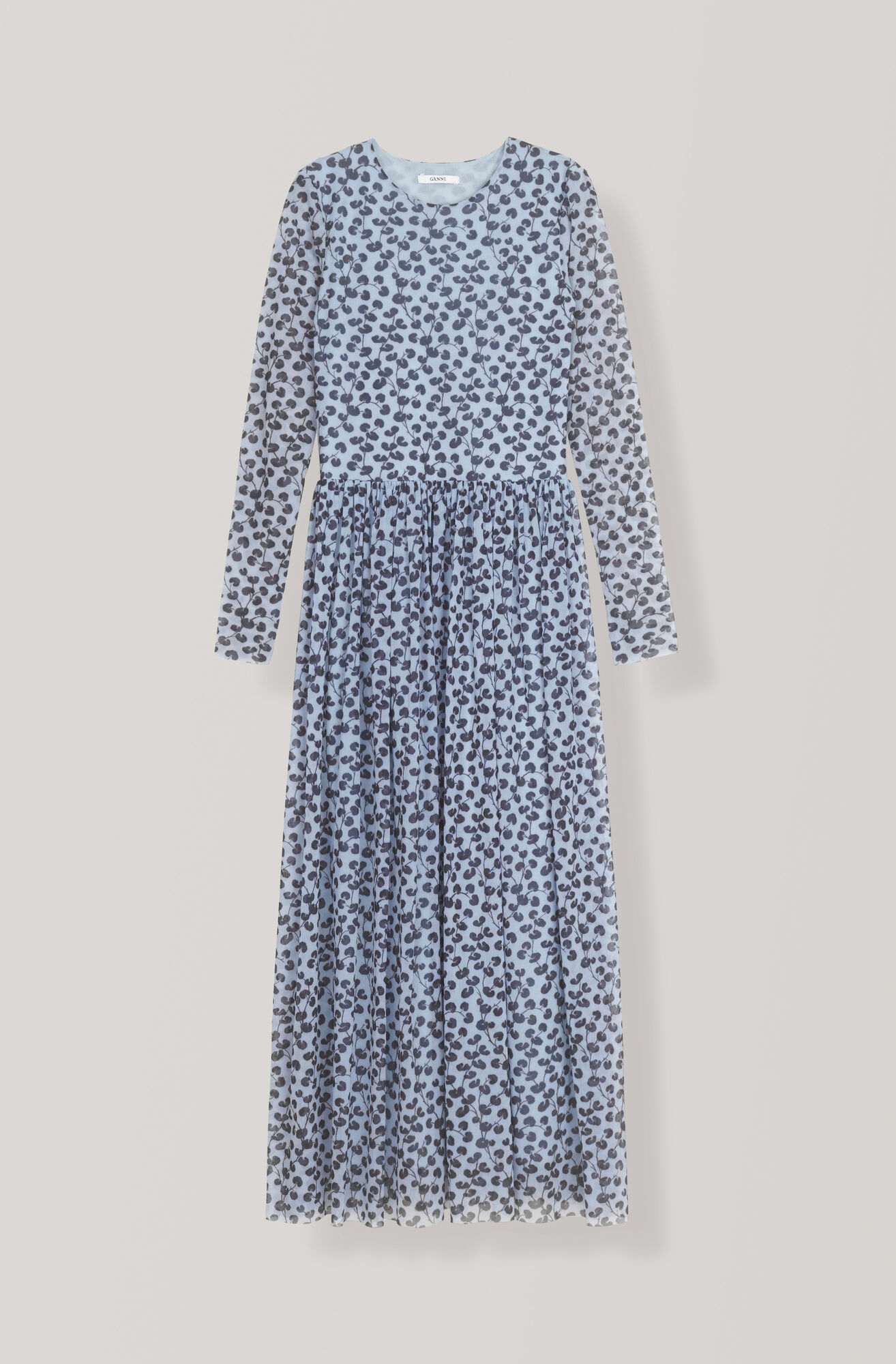 Tilden Mesh Maxi Dress, Serenity Blue, hi-res
