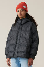 Printed Tech Down Jacket, Black, hi-res