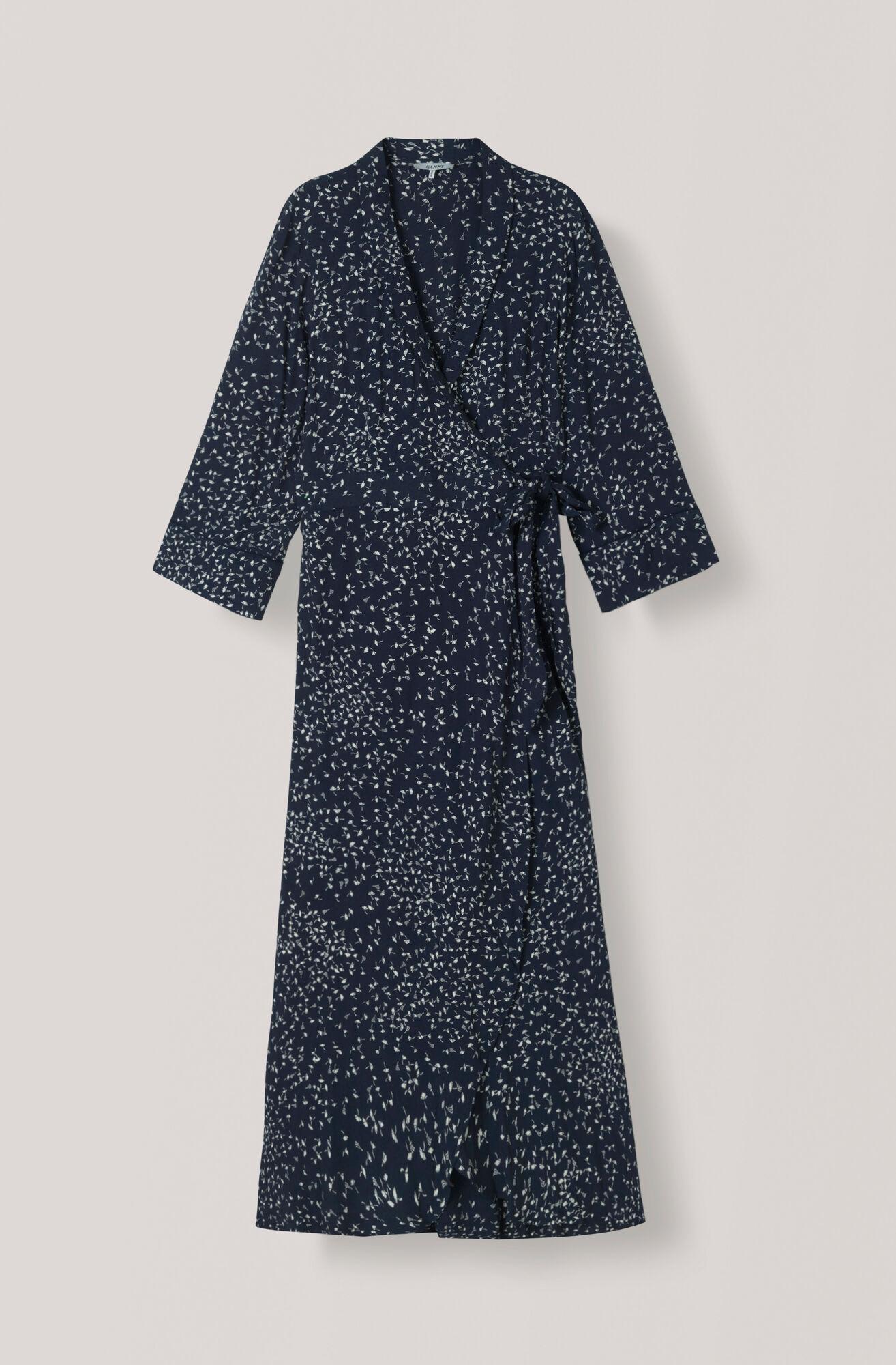 Barra Crepe Wrap Dress, Total Eclipse, hi-res