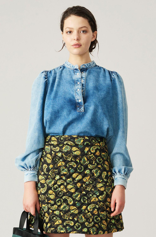 가니 청셔츠 Ganni Core Light Blouse,Light Blue Vintage