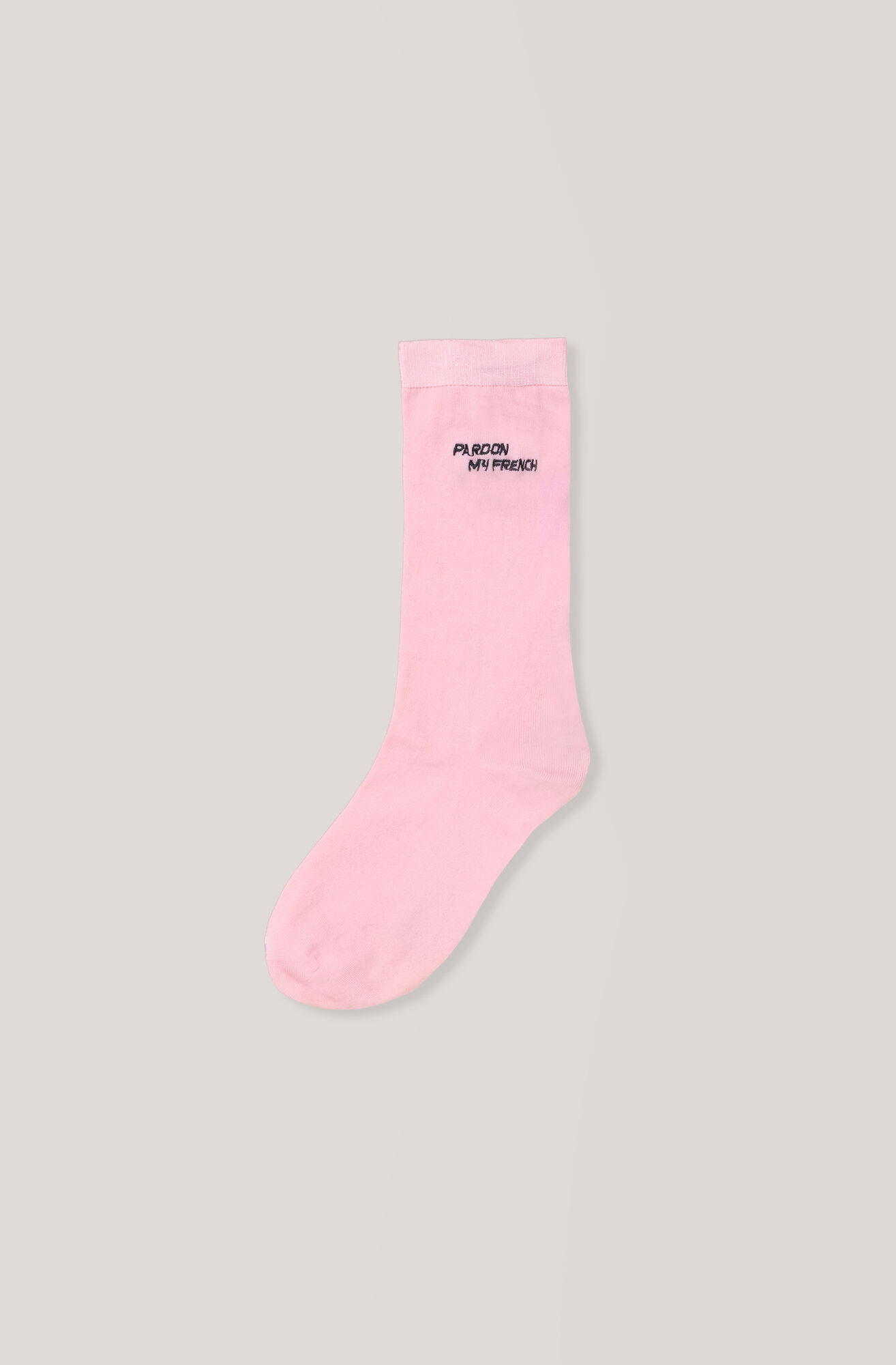 Classon Embroidery Ankle Socks, Pardon, Sea Pink, hi-res