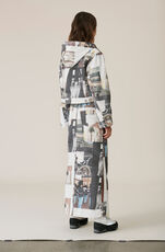 Printed Denim Hooded Jacket, Multicolour, hi-res