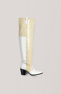 High Western Stiefel, Bright White, hi-res